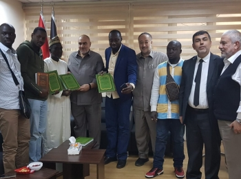 """A delegation from the Senegalese Association """"Ansar al-Din"""" in Turkey visits  the Afro-Asian Cooperation Council."""