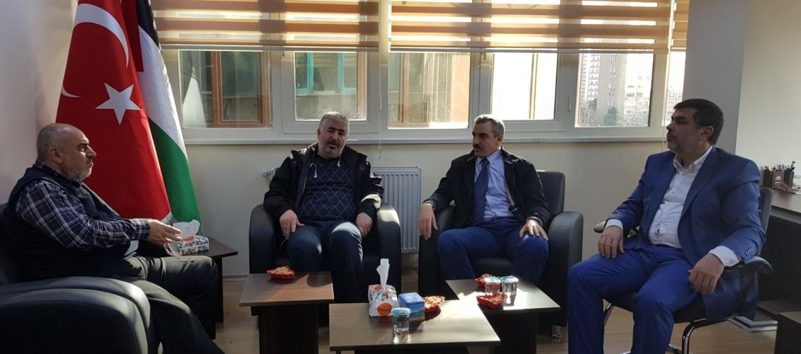 زيارة مسؤول العلاقات الأفريقية بالمجلس الأفروآسيوي ومسؤول العلاقات العامة في جامعة الفاروق الافوارية لجامعة اسطنبول