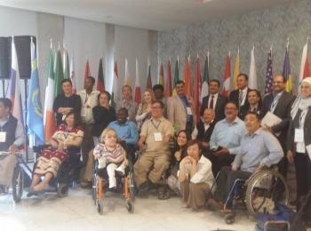 بتنظيم من مجلس التعاون الأفروآسيوي الأستاذ عبد العزيز أبكر آدم يشارك في مؤتمر ذوى الإعاقة بمدينة مرسين التركية
