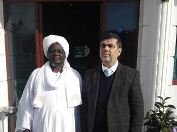"""Dr. Idris Rebbouh reçoit le Président du Conseil d'Administration du Centre """"Noun"""" au Tchad à Istanbul"""