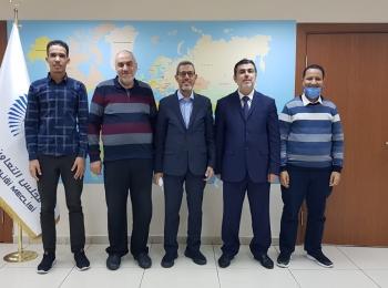 المهندس منير سعيد يستقبل السيد الحسن ولد محمدعمدة بلدية عرفات بالعاصمة الموريتانية نواكشوط
