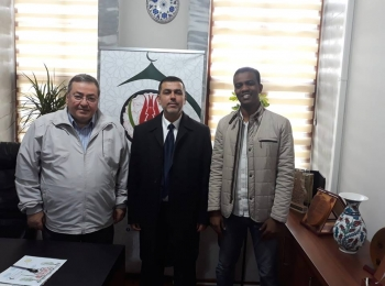 الدكتور ادريس ربوح يزور إتحاد المنظمات الأهلية في العالم الإسلامي