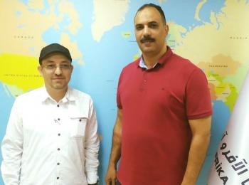 الأستاذ ناصر حلمي يستقبل الدكتور محمد صفر المدير التنفيذي لمركز دراسات الأقليات المسلمة