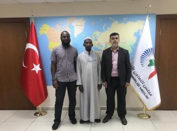 د.ادريس ربوح يستقبل الأستاذ عبد الله سيسيني رئيس المؤسسة الإسلامية بمملكة لوسوتو