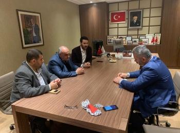 المهندس منير سعيد رئيس مجلس التعاون الأفروآسيوي يزور السيد حسن طوران مسئول لجنة فلسطين في البرلمان التركي