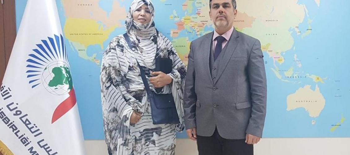 رئيس مجلس العمل الإفريقي بمجلس التعاون الافرو آسيوي يستقبل السيد الكورية لعويني رئيسة جمعية المرأة التقليدية للتنمية بالمغرب